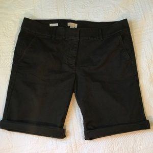 Loft Outlet Bermuda Roll Dark Gray Shorts